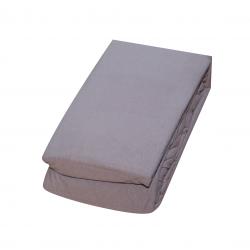Еластичен чаршаф с ластик, цвят сив