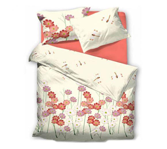 Спален комплект Червени цветя - 486