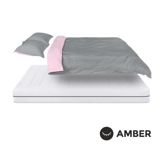 Спален комплект Amber Памучен сатен лукс Mystic Blush - 1
