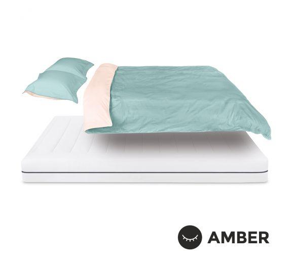 Спален комплект Amber Памучен сатен лукс Sapphire Dust - 1