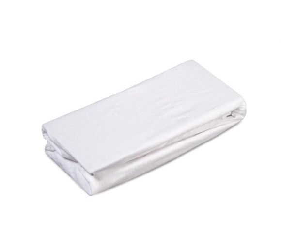 Бял чаршаф с ластик за бебе/дете - 1