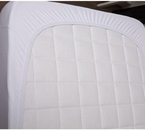 Бял чаршаф с ластик за бебе/дете - 4