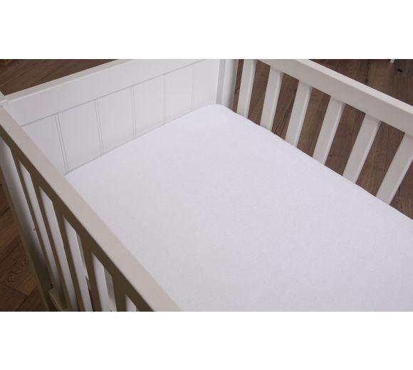 Бял чаршаф с ластик за бебе/дете - 5
