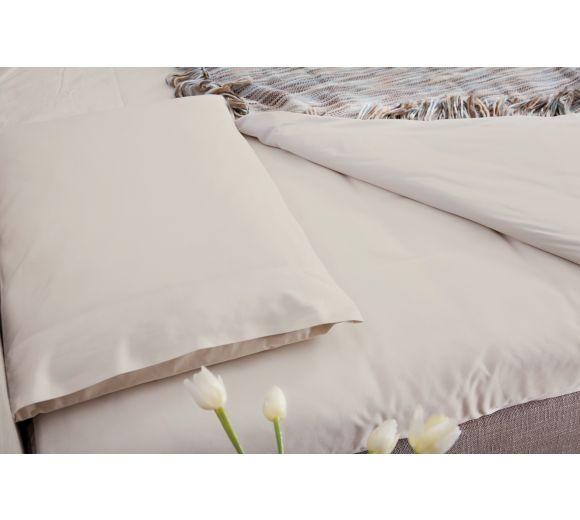 Спален лукс комплект от индийски памук - крем - 1