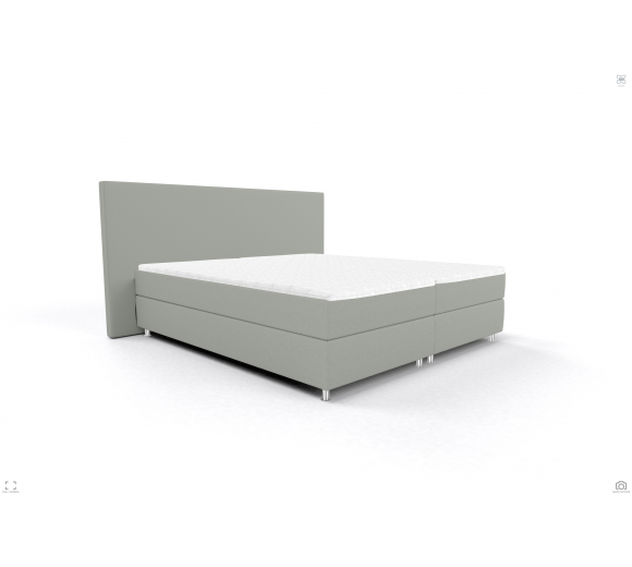 Bed 140/200 OSLO OS BB PP LIGHT GREY - 1