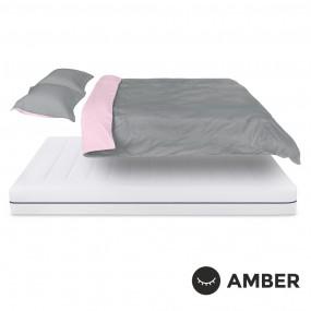 Спален комплект Amber Памучен сатен лукс Mystic Blush