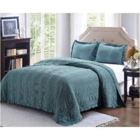 Комплект кувертюра за спалня & калъфки за възглавници в синьо