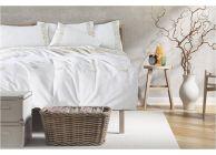 Луксозен спален комплект с бродерия  в екрю - 1t