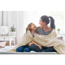 Knitted blanket, Graphite