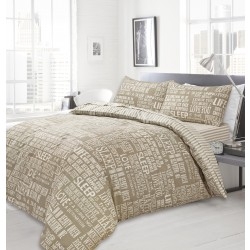 Bedding Set Modern Design - Natural Stripe
