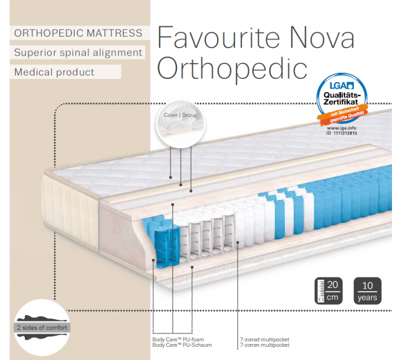 FAVOURITE NOVA Orthopedic mattress - 2