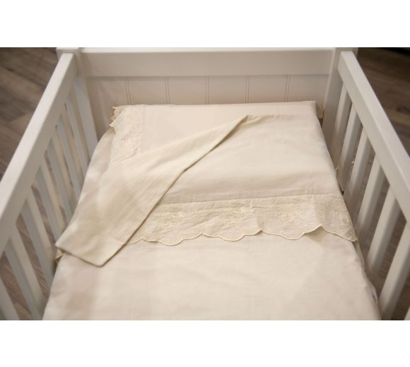 Baby bedding sets with lace - 1