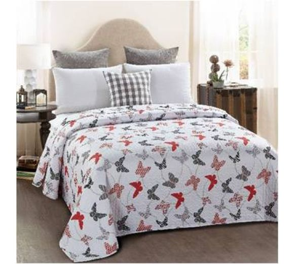 Modern design double-sided quilt cover - Butterflies