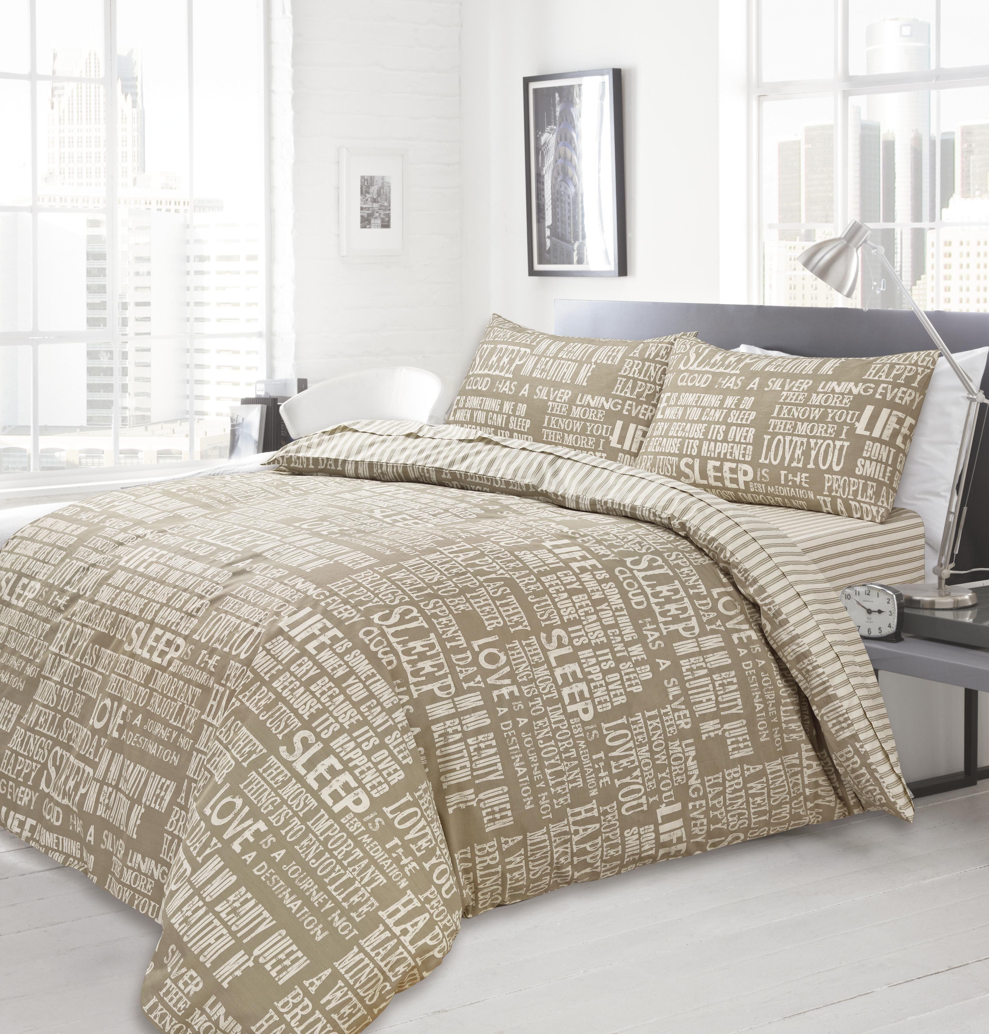 Bedding Set Modern Design  Natural Stripe