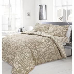 Bedding Set Modern Design - Natural Stripe