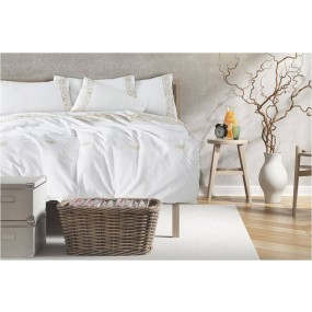 Luxury Style Bed Linen with embroidery - Ecru