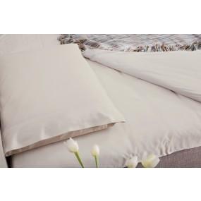 Спален лукс комплект от индийски памук - крем