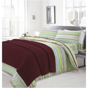 Knitted blanket, Bordo