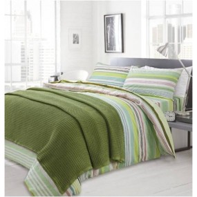 Knitted blanket, Green