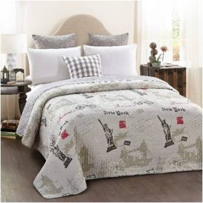Modern design double-sided quilt cover - Cities