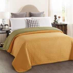 Double-sided quilt cover - Mustard