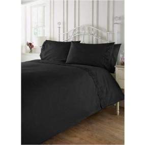 Vintage Style Bed Linen Set - Graphite