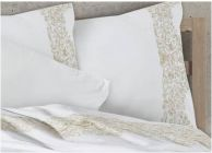 Luxury Style Bed Linen with embroidery - Ecru - 2t